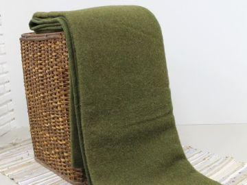 """Одеяло шерстяное """"Хаки"""""""