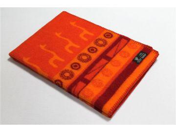 """Дизайнерское шерстяное одеяло """"Оранжевая фантазия"""""""