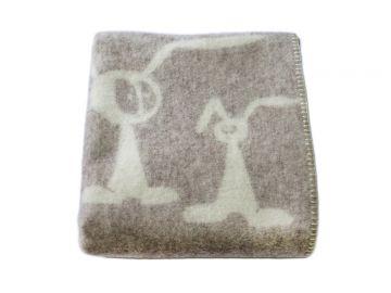 """Дизайнерское шерстяное одеяло """"Супер зайцы грэй"""""""
