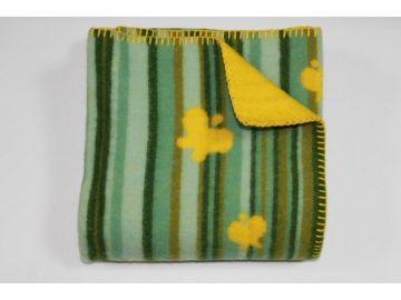 """Дизайнерское шерстяное одеяло """"Желтые бабочки"""""""