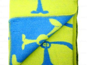 """Дизайнерское шерстяное одеяло """"Супер зайцы"""""""