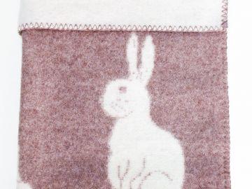 """Дизайнерское шерстяное одеяло """"Кролик Роджер"""""""