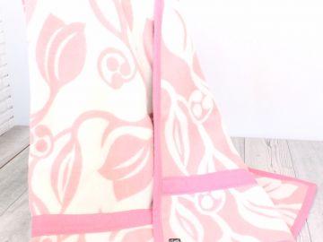 """Дизайнерское шерстяное одеяло """"Розовая лилия"""""""